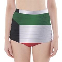 Flag Of Kuwait High-Waisted Bikini Bottoms