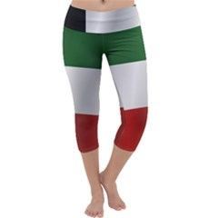 Flag Of Kuwait Capri Yoga Leggings