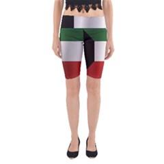 Flag Of Kuwait Yoga Cropped Leggings