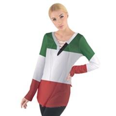 Flag Of Kuwait Women s Tie Up Tee