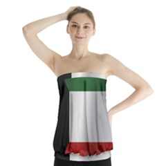 Flag Of Kuwait Strapless Top