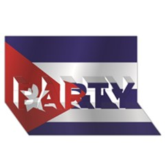 Flag Of Cuba PARTY 3D Greeting Card (8x4)