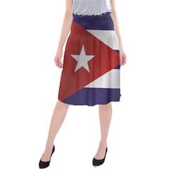 Flag Of Cuba Midi Beach Skirt