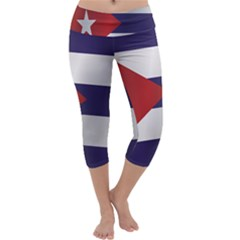 Flag Of Cuba Capri Yoga Leggings