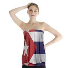 Flag Of Cuba Strapless Top