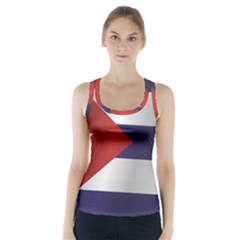 Flag Of Cuba Racer Back Sports Top