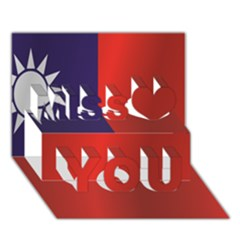 Flag Of Taiwan Miss You 3D Greeting Card (7x5)