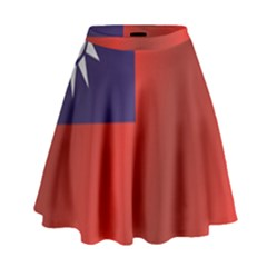 Flag Of Taiwan High Waist Skirt