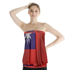Flag Of Taiwan Strapless Top