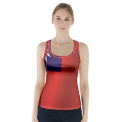 Flag Of Taiwan Racer Back Sports Top