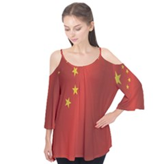 Flag Of China Flutter Tees