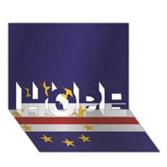 Flag Of Cape Verde HOPE 3D Greeting Card (7x5)