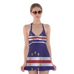 Flag Of Cape Verde Halter Swimsuit Dress