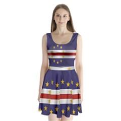 Flag Of Cape Verde Split Back Mini Dress
