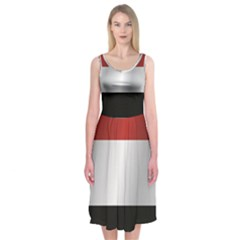 Flag Of Yemen Midi Sleeveless Dress