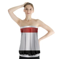 Flag Of Yemen Strapless Top