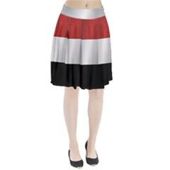 Flag Of Yemen Pleated Skirt