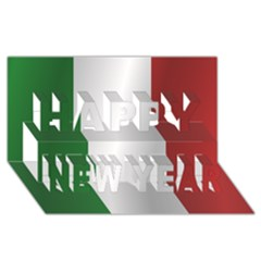 Flag Of Italy Happy New Year 3D Greeting Card (8x4)