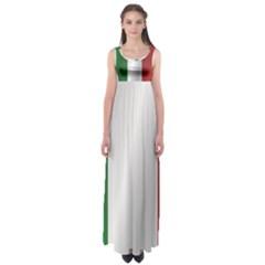 Flag Of Italy Empire Waist Maxi Dress