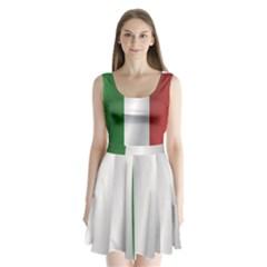Flag Of Italy Split Back Mini Dress