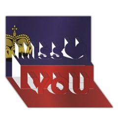 Flag Of Liechtenstein Miss You 3D Greeting Card (7x5)