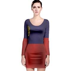 Flag Of Liechtenstein Long Sleeve Bodycon Dress