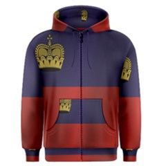 Flag Of Liechtenstein Men s Zipper Hoodie
