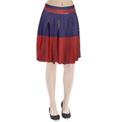 Flag Of Liechtenstein Pleated Skirt