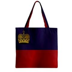 Flag Of Liechtenstein Zipper Grocery Tote Bag