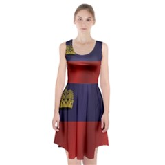 Flag Of Liechtenstein Racerback Midi Dress