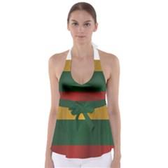Flag Of Lithuania Babydoll Tankini Top