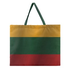 Flag Of Lithuania Zipper Large Tote Bag