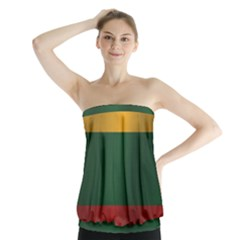 Flag Of Lithuania Strapless Top