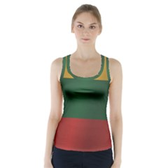Flag Of Lithuania Racer Back Sports Top