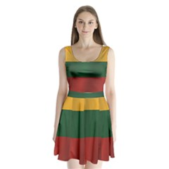 Flag Of Lithuania Split Back Mini Dress