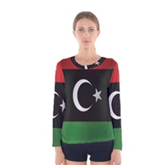 Flag Of Libya Women s Long Sleeve Tee