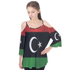 Flag Of Libya Flutter Tees
