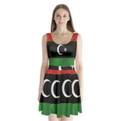 Flag Of Libya Split Back Mini Dress