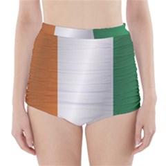 Flag Of Ivory Coast High-Waisted Bikini Bottoms