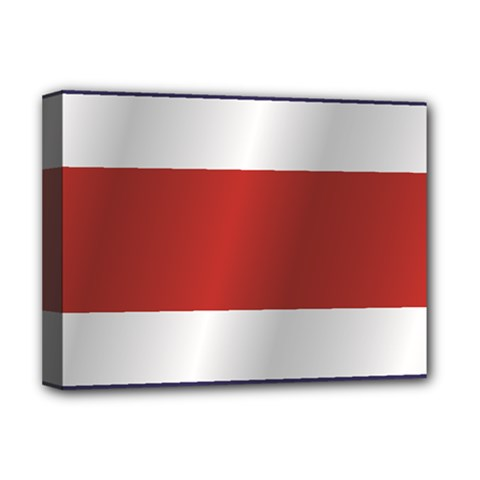 Flag Of Costa Rica Deluxe Canvas 16  x 12