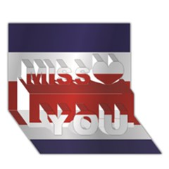 Flag Of Costa Rica Miss You 3D Greeting Card (7x5)