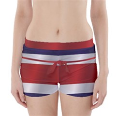 Flag Of Costa Rica Boyleg Bikini Wrap Bottoms