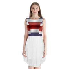 Flag Of Costa Rica Sleeveless Chiffon Dress