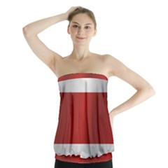 Flag Of Costa Rica Strapless Top