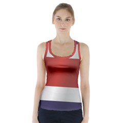 Flag Of Costa Rica Racer Back Sports Top