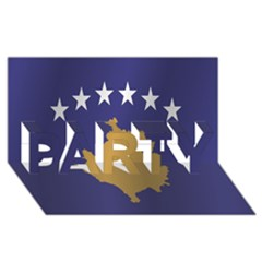Flag Of Kosovo PARTY 3D Greeting Card (8x4)