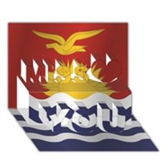 Flag Of Kiribati Miss You 3D Greeting Card (7x5)