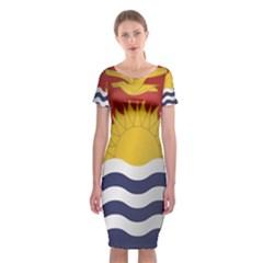 Flag Of Kiribati Classic Short Sleeve Midi Dress