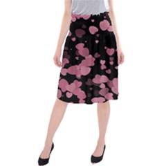 Pink Love Midi Beach Skirt