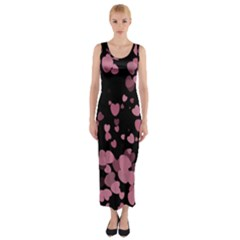 Pink Love Fitted Maxi Dress